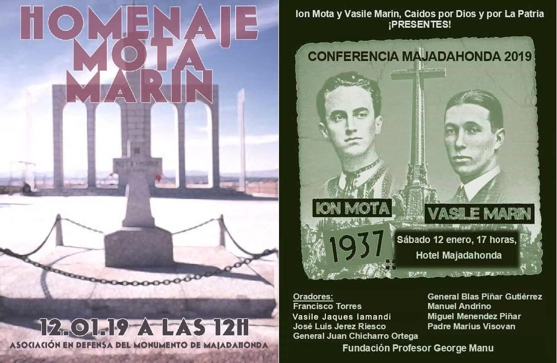 Sábado 12, doble homenaje a Ion Mota y Vasile Marin en Majadahonda (Madrid)