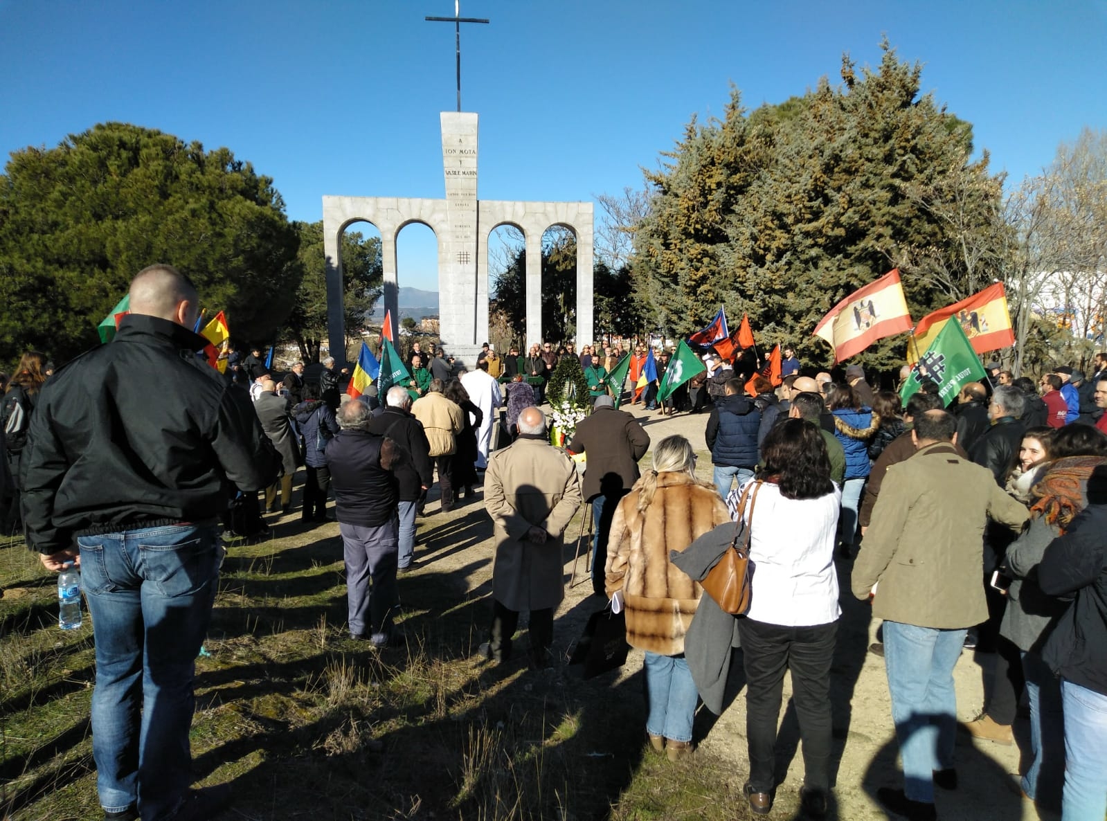 Homenaje a Ion Mota y Vasile Marin en el monumento de Majadahonda (vídeo)