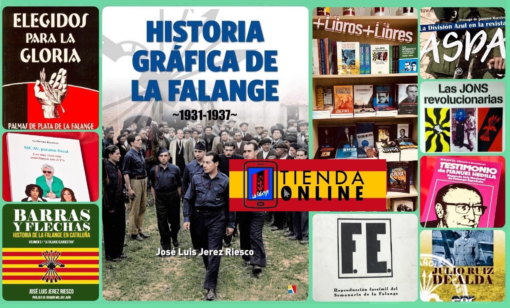 """Esta navidad, novedades como """"Historia Gráfica de la Falange.1931-1937"""" en nuestra tienda"""