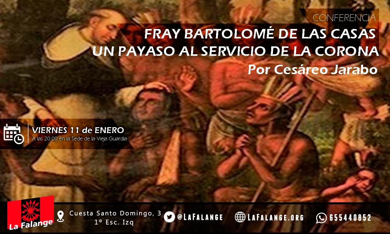 11-Enero: viernes cultural sobre Fray Bartolomé de las Casas a cargo de Cesáreo Jarabo