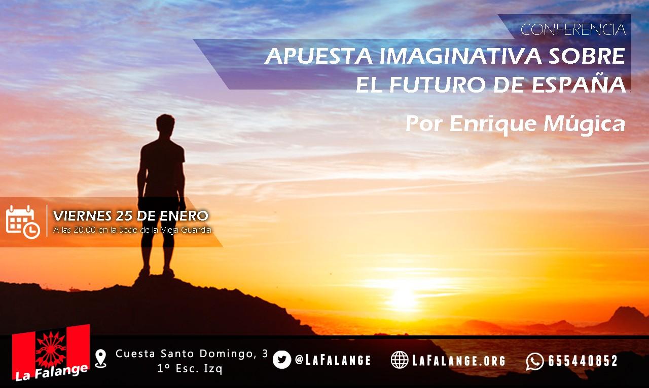 """25-E: viernes cultural con Enrique Múgica con """"Apuesta imaginativa sobre el futuro de España"""""""