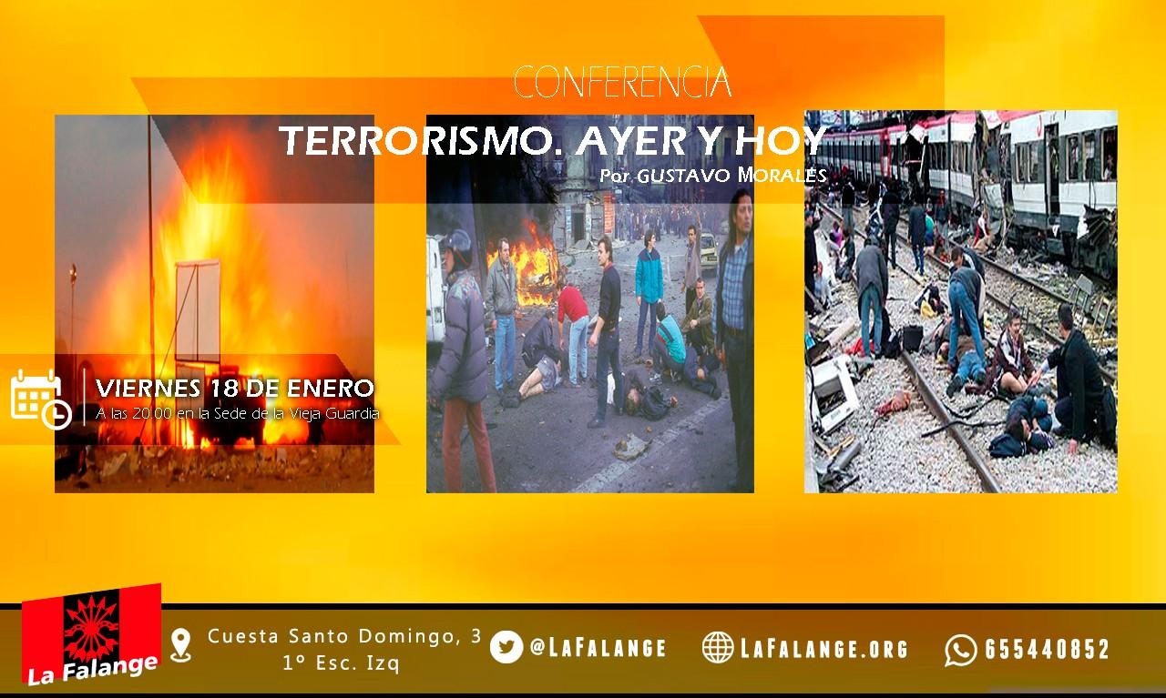 18-E: viernes cultural sobre terrorismo con Gustavo Morales