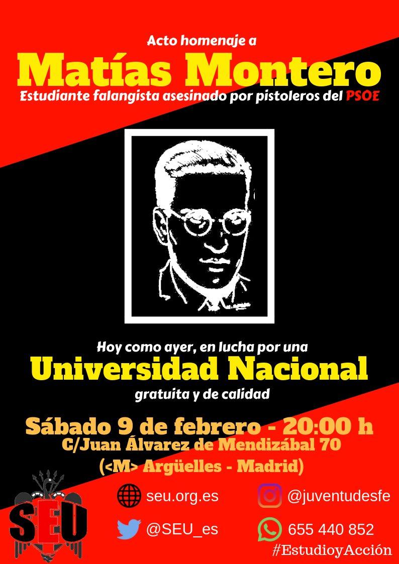 9-F: Homenaje al estudiante caído Matías Montero