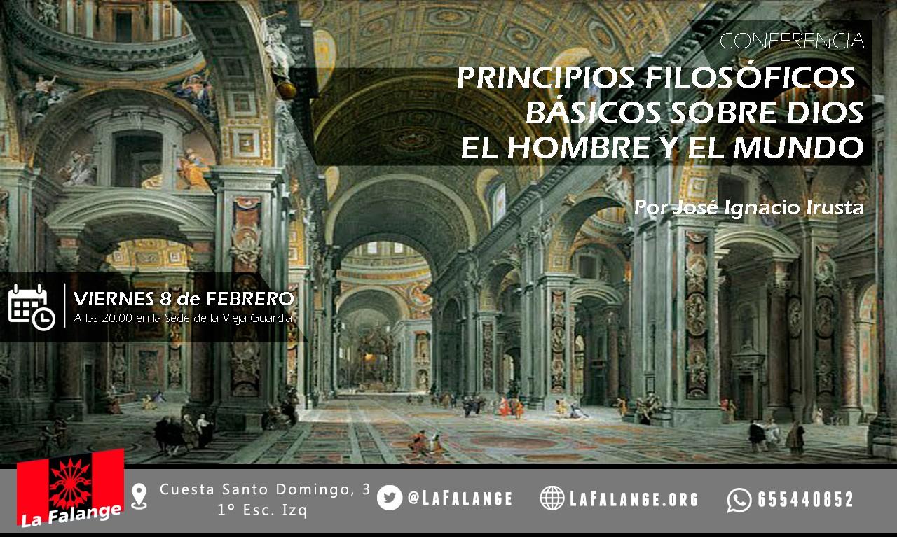 """8-F: Viernes cultural: """"Dios, el hombre y el mundo"""" por José Ignacio Irusta"""