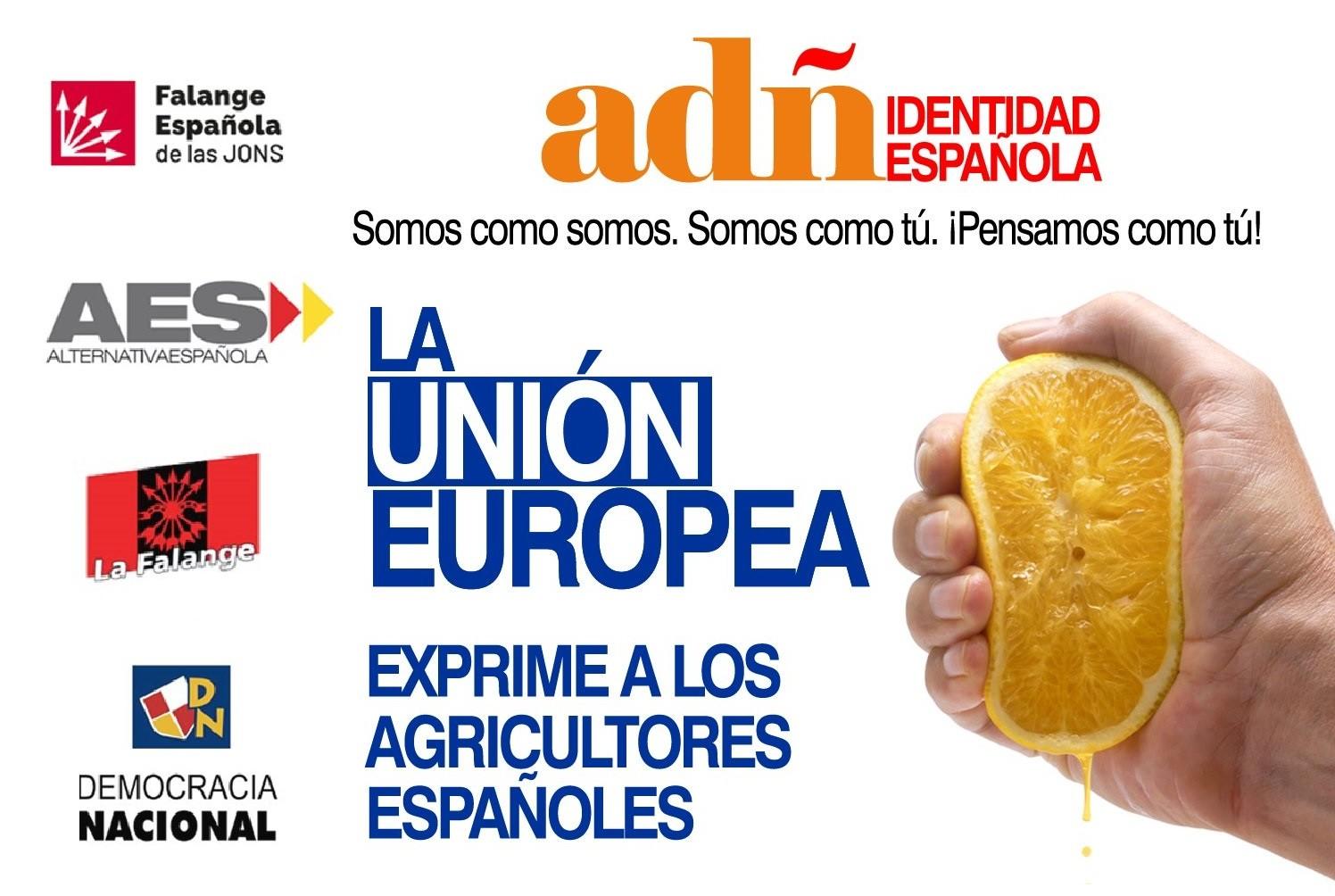 Jornada de lucha con los maltratados agricultores españoles