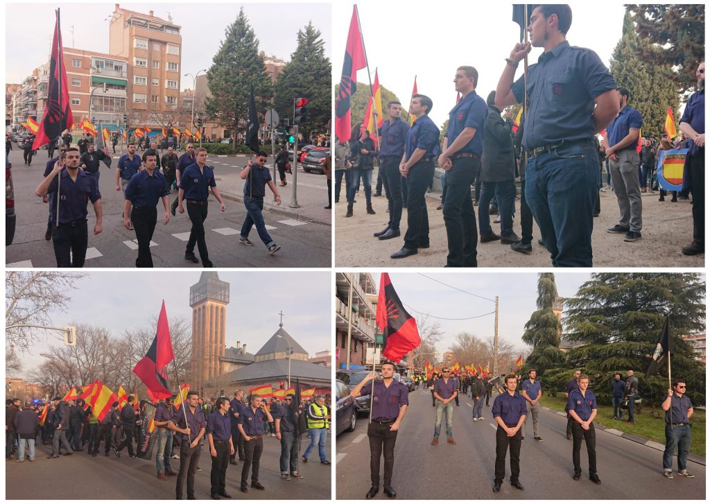 Homenaje a Matías Montero, Marcha homenaje a la División Azul y Manifestación Patriota