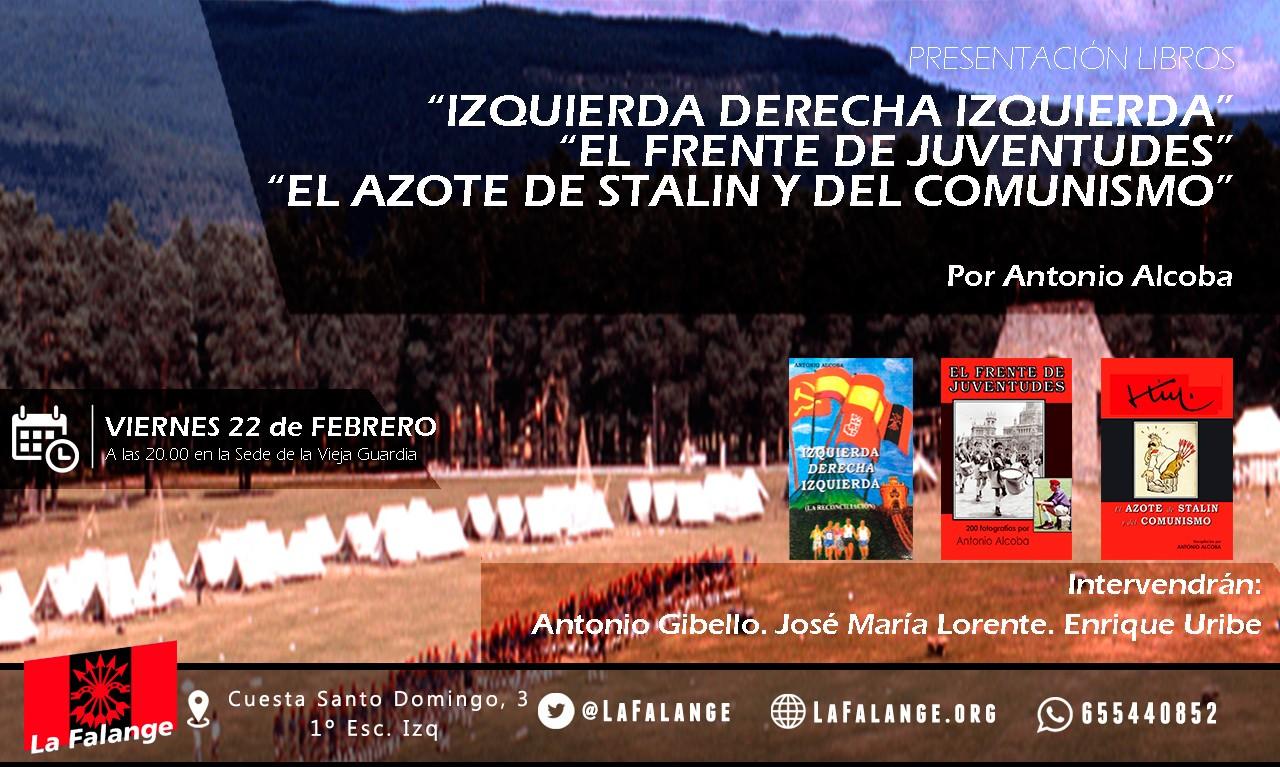 22-F: Nuevo viernes cultural con Antonio Alcoba