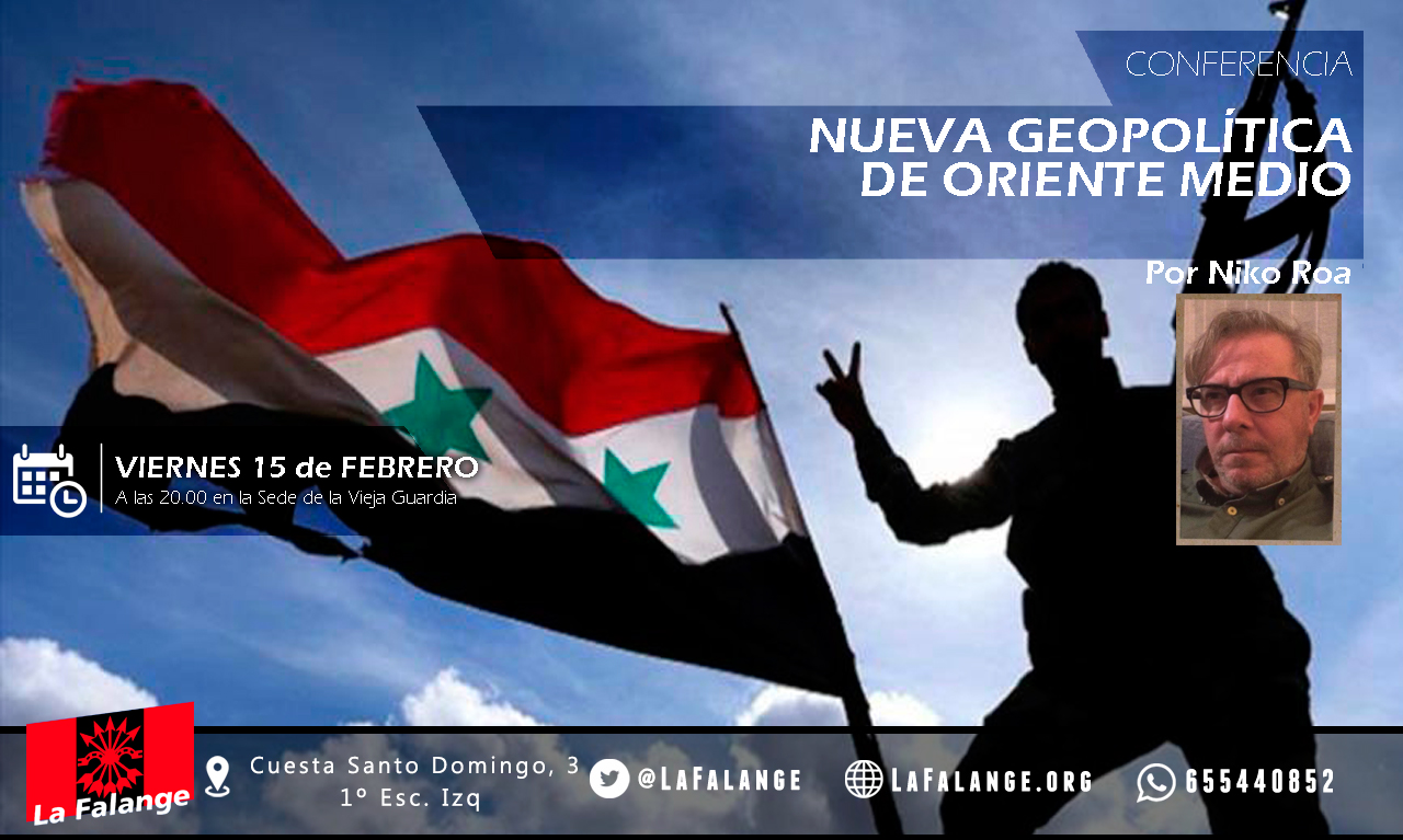 15-F: Viernes cultural sobre Oriente Medio con Niko Roa