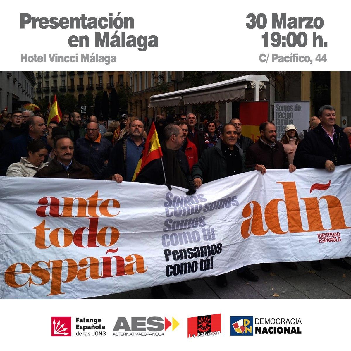 Sábado 30: Presentación de ADÑ en Málaga