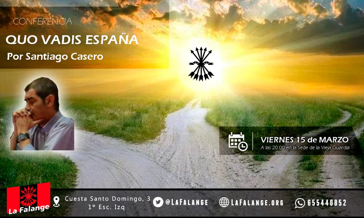 """15M, viernes cultural: """"Quo vadis, España?"""" a cargo de Santiago Casero"""
