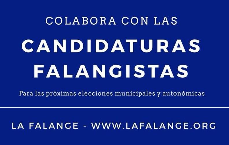 Colabora con las candidaturas falangistas