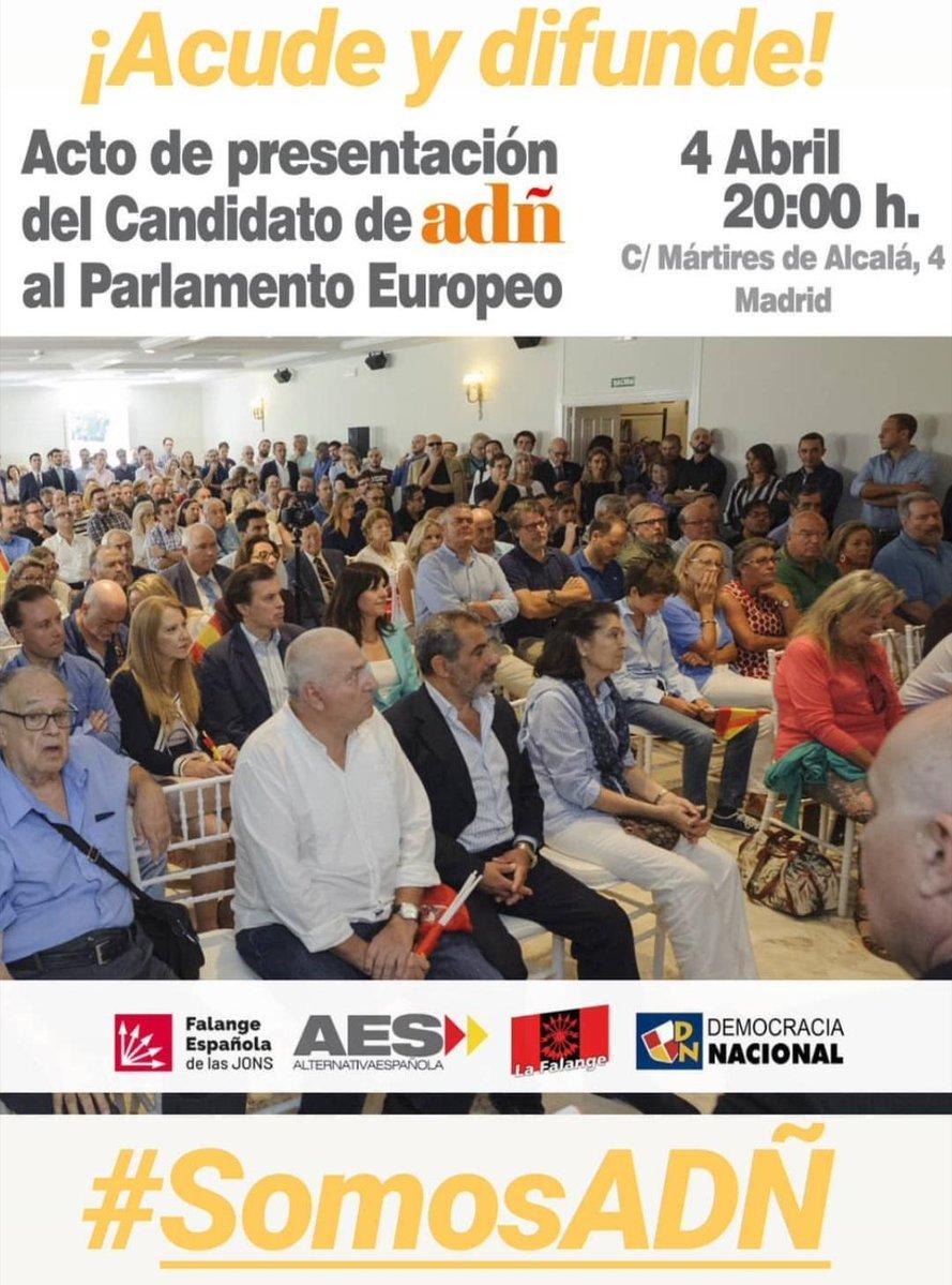 ADÑ presentará en Madrid su programa electoral y su candidato para las elecciones europeas