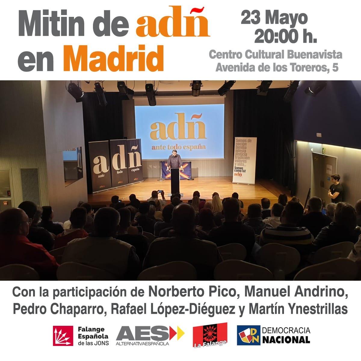Próximos actos ADÑ: Yecla (Murcia) y cierre de campaña en Madrid
