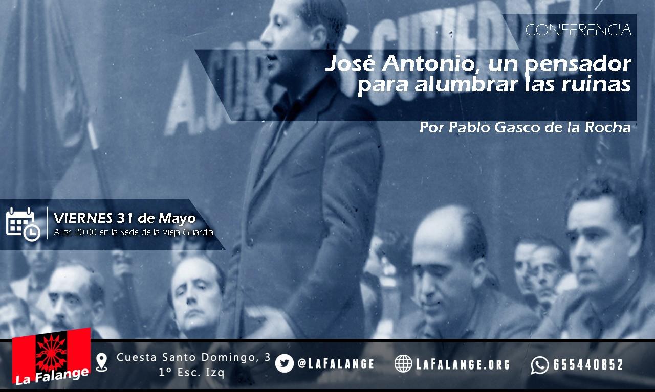 Nuevo  Viernes cultural: Pablo Gasco de la Rocha nos hablará de José Antonio