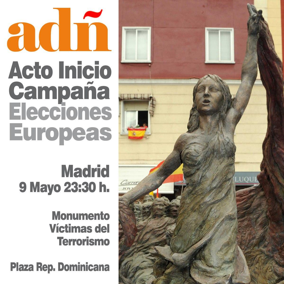 Acto inicio de campaña para las Elecciones Europeas. Jueves a las 23:30 h. en la Plaza de la República Dominicana