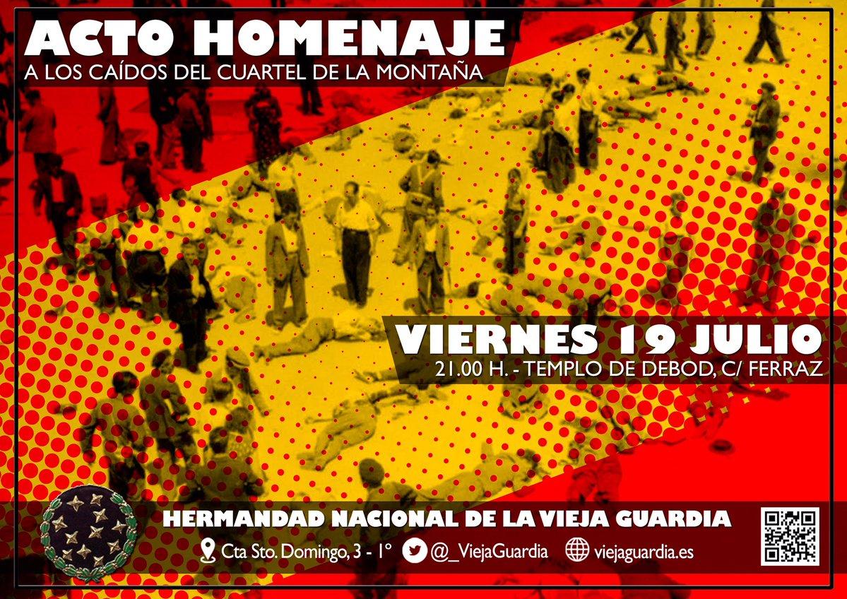 19-Julio: Acto público en homenaje a los Caídos en el Cuartel de la Montaña