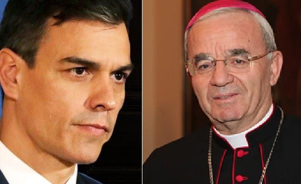 Sobre las declaraciones del Nuncio en España y las amenazas de Pedro Sánchez