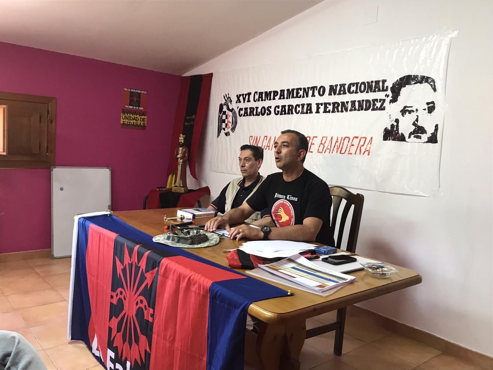 Manuel Andrino inaugura el Campamento Nacional de Juventudes de La Falange