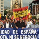 La Falange celebra el 12 de Octubre en Montjuic