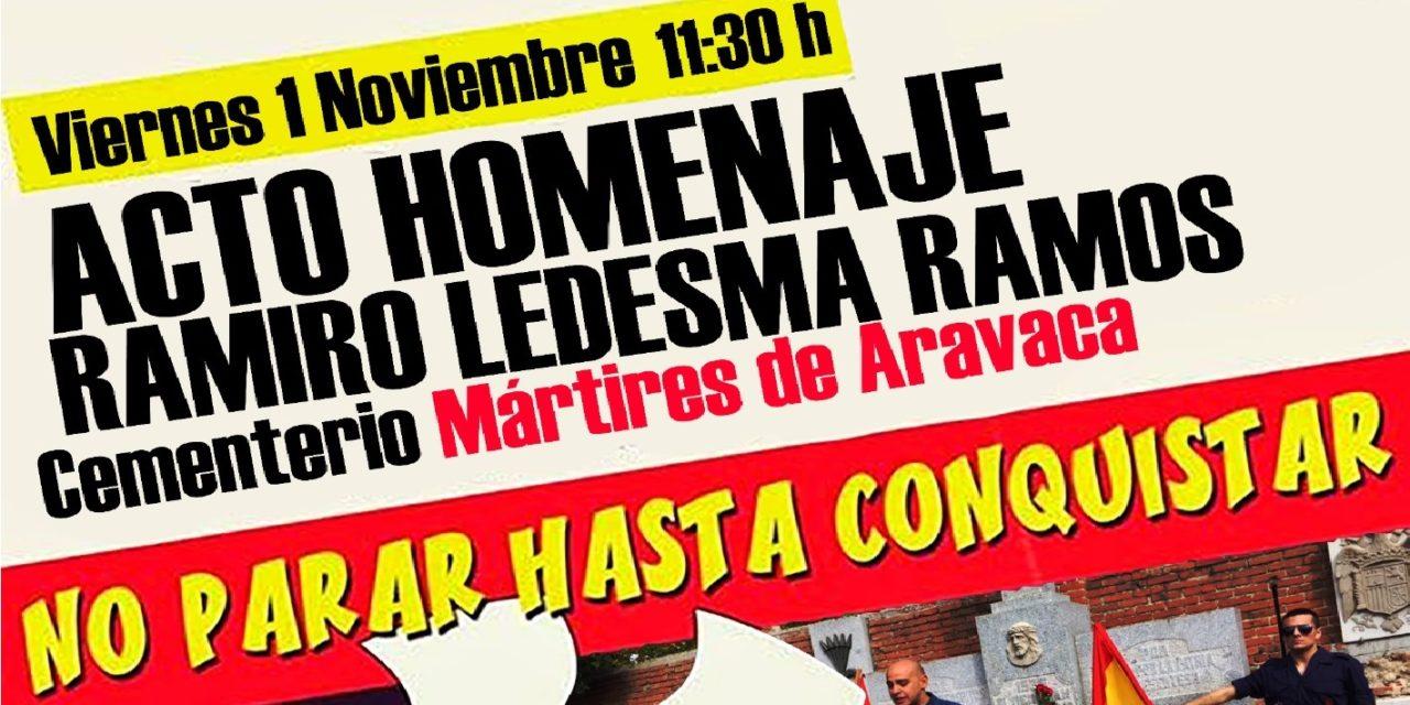 Viernes 1-N: Homenaje a Ramiro Ledesma en Aravaca