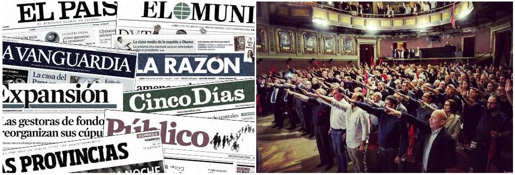 """Todos los medios de """"manipulación"""" ladran por el acto falangista en el Ateneo de Madrid"""