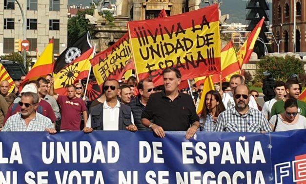 Discurso del Jefe Nacional de La Falange, Manuel Andrino, en Montjuic (12-10-2019)