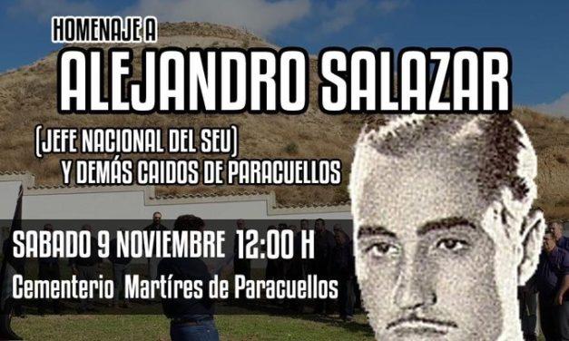 Sábado 9N: Homenaje a Alejandro Salazar y demás Caídos en Paracuellos