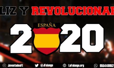 Feliz y revolucionario 2020. Juventudes de La Falange