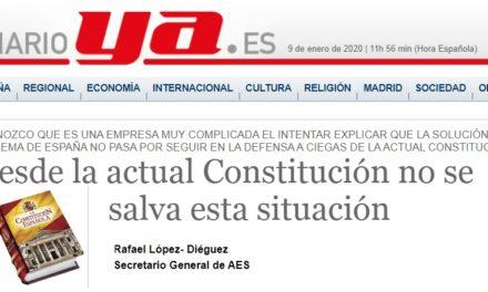 """""""Desde la actual Constitución no se salva esta situación"""" por Rafael López Diéguez"""