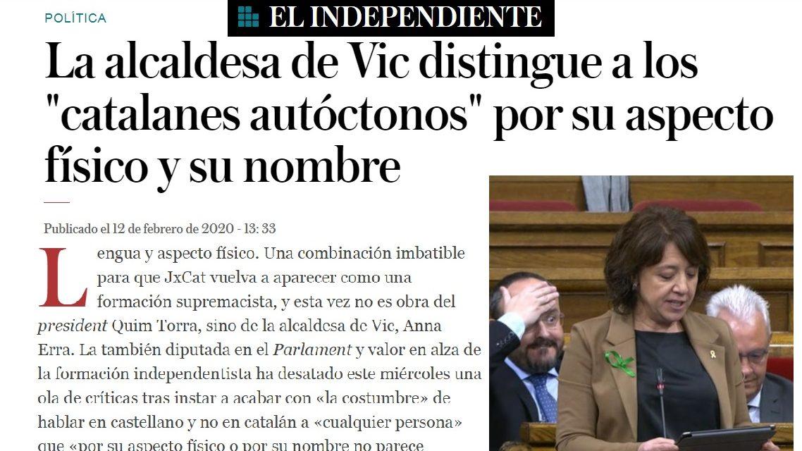 La enfermedad separatista habla de diferencias raciales de los catalanes autóctonos
