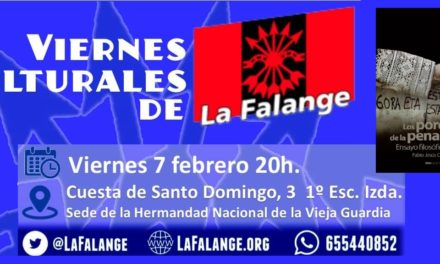 7 de febrero: Viernes cultural sobre la pena capital con el padre Jesús Calvo