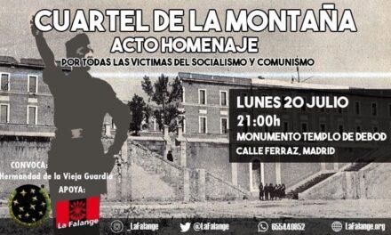 Lunes 20: Homenaje a los Caídos en el Cuartel de la Montaña