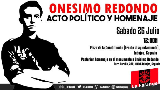 Acto político y homenaje a Onésimo Redondo