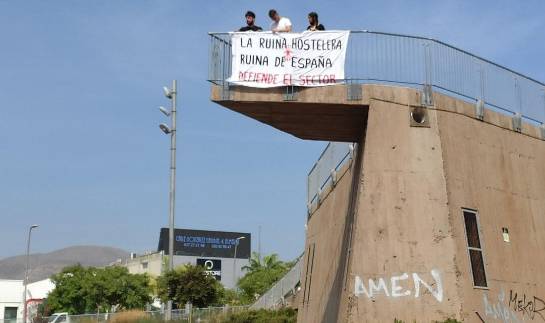 Concentración en Almería por la defensa de la hostelería