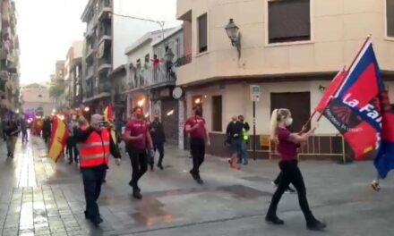 """En el día de la Hispanidad, La Falange de Levante presente en la """"Marcha de las antorchas"""""""