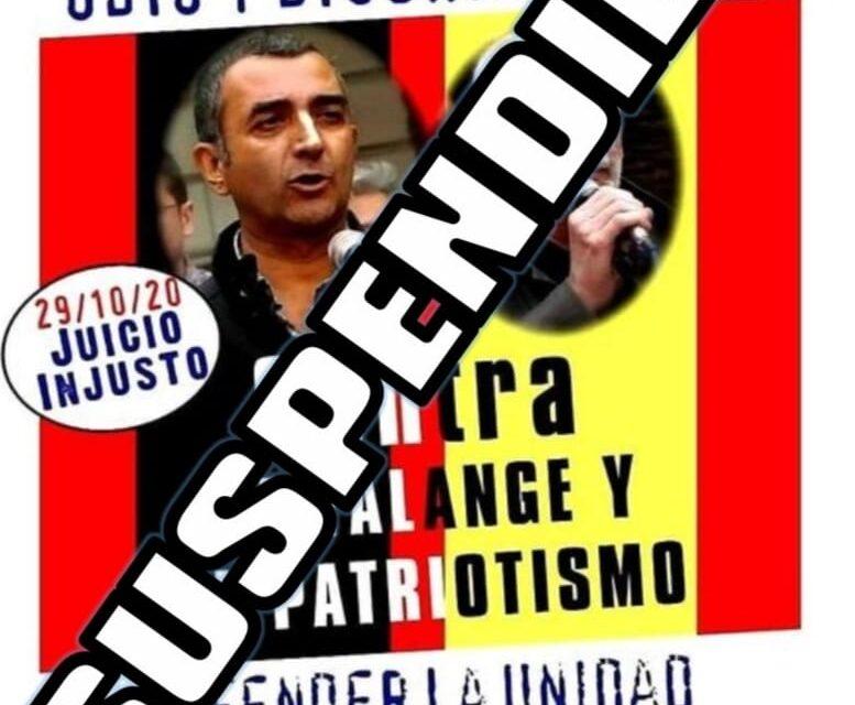 El juicio contra La Falange y el patriotismo quedó suspendido