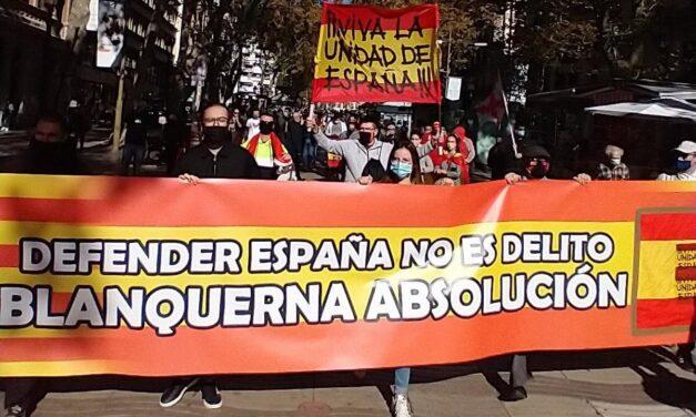 En el día de la Hispanidad, La Falange de Cataluña por la defensa de España