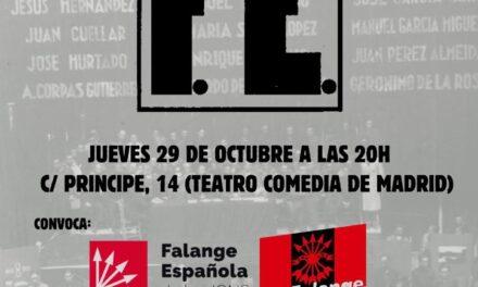 LXXXVII aniversario de Falange Española – Acto falangista en Madrid