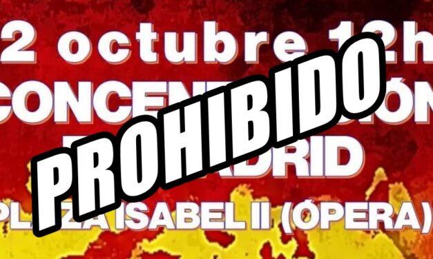 La Delegación del Gobierno en Madrid prohíbe el acto de La Falange el 12 de octubre