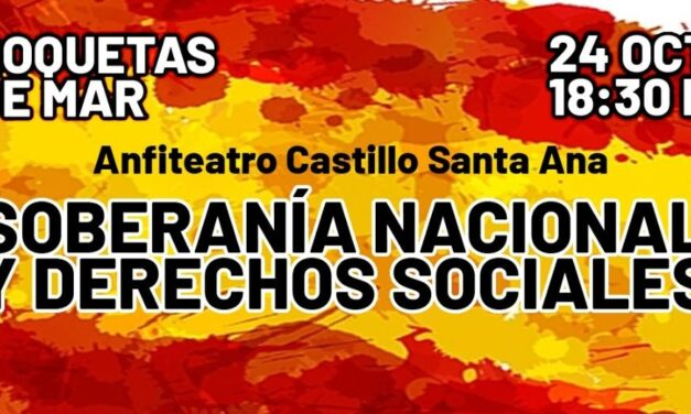 Acto falangista – Soberanía nacional y derechos sociales – Roquetas de Mar (Almería)