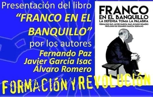 """Nuevo Viernes Cultural de La Falange con la presentación del libro """"Franco en el banquillo"""""""
