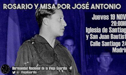 Rosario y misa por José Antonio Primo de Rivera