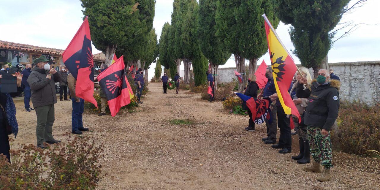 Homenaje de La Falange a Víctor Laínez en Litago (Zaragoza)