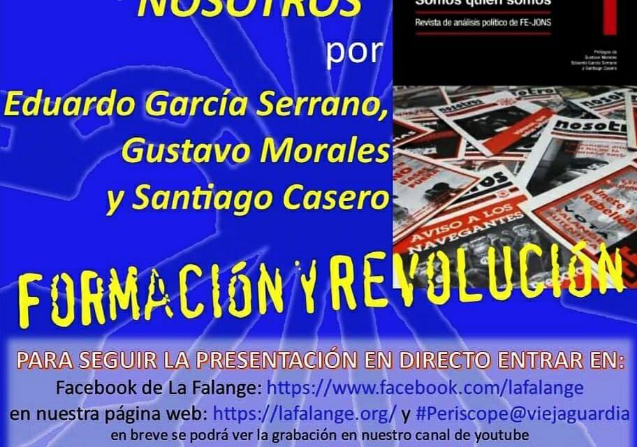 """PRESENTACIÓN DEL FACSÍMIL CON COLECCIÓN COMPLETA DE LA REVISTA """"NOSOTROS"""", CON GUSTAVO MORALES, EDUARDO GARCIA SERRANO Y SANTIAGO CASERO"""