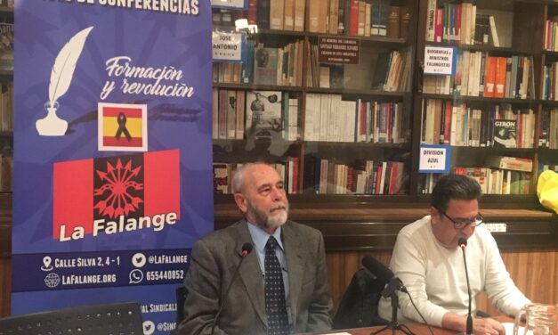 """Nuevo Viernes Cultural de La Falange con la conferencia """"LA CRISTIADA: un movimiento popular"""" por el Gral. Blas Piñar"""