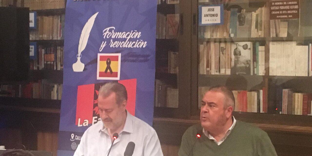 """EN DIRECTO. Conferencia """"VEINTE AÑOS DESPUÉS. Notas sobre la acción cultural falangista"""". Por Miguel Ángel Vázquez."""