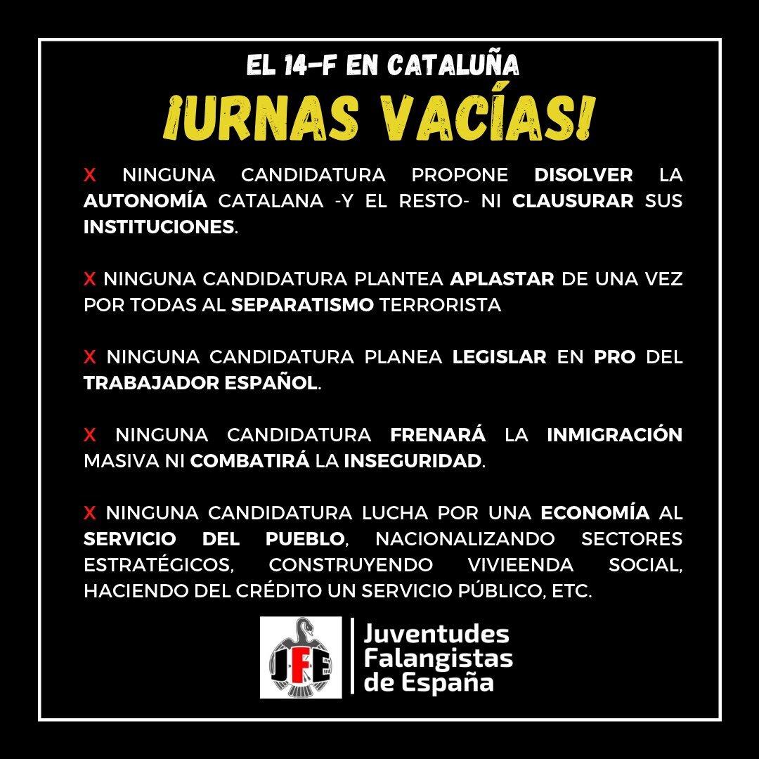 Elecciones en Cataluña. ¡Urnas vacías!