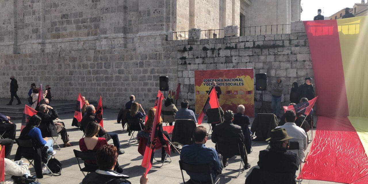 LA FALANGEy FE de las JONS en Valladolid defienden la soberanía nacional y los derechos de sociales