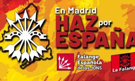 Vídeos electorales de Falange Española de las JONS. En Madrid, haz por España, vota FE de las JONS