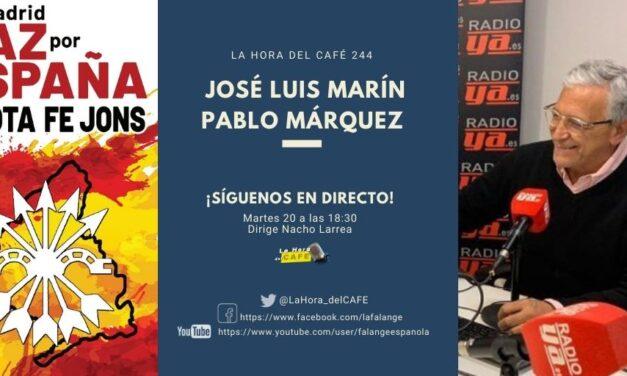 La Hora del CAFE 244 en directo por Youtube, Facebook y Twitter con Pedro Márquez y José Luis Marín